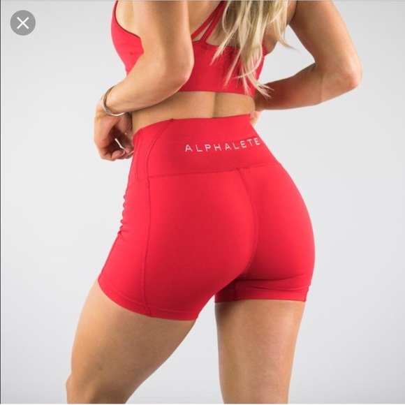 9e8b9b60eec  New with tags  Alphalete Revival Red Shorts XS
